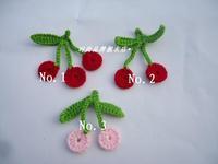 Min order is $10 Diy handmade flower crochet cherry yarn flower crochet flower handmade accessories clothes material