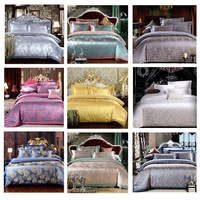 Jacquard Luxury Silk/Cotton Bedding Set. Home textiles . Free shipping to your house!!!