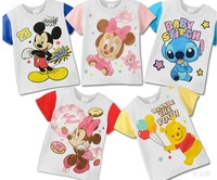 Free Shipping 1PC/Lot 2014 Children Child Baby Boy&Girl Summer Cute Sweet Cartoon Minnie Short  Sleeve T-Shirts Cotton kids Gift