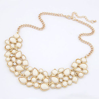 Europe fashion luxury resin choker necklace rhinestone jewelry bubble necklace for women gifts