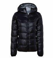 JK-232 Woman's Outerwear Slim Hooded Down Jacket Woman Warm Down Coat For Women Super Light Comfortable White Duck Down 90%