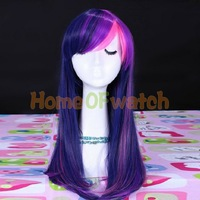 55cm Long Mixed Purple / Pink Straight Wigs Cosplay Wig (NWG0CP60749-TP2)