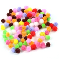 D195pack(500pcs) Assorted 8mm Mixed Color Soft Fluffy Pom Poms Pompoms New
