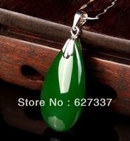 Natural Green Jade Fashion Water Drop Shape