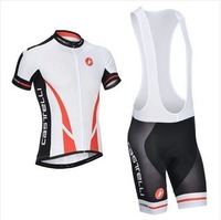 2014 new CASTELLI  Outdoor sports italia Flag version cycling wear short jersey + bib shorts S-XXXL
