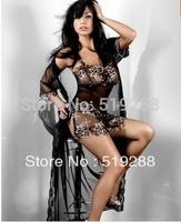 Hot sale fashion Sexy Lingerie women nightwear sexy sleepwear Underwear black sleep long dress+ free takc number shipping T5028