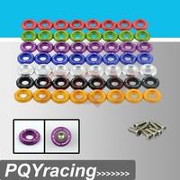 J2 Racing Store-(8pc/pack) Clear Anodized Fender Washer Kit For Honda Civic Acura Integra EG DC EK