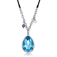 CDE Classic Rhinestone Hematite Necklace Women Fashion Jewelry for Valentine's Day Free Shipping