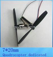 Free shipping 4pcs quadrocopter motor Coreless motor 3.7v 50000rpm + propeller remote control toys, fitting