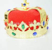 Free shipping Fashion cosplay Prince headdress Adjustable size  Masquerade Holiday dress royal king Crown