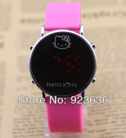 Luxury Resin Rubber Hello Kitty Watch Children Watch led digital fashion watch Free Shipping