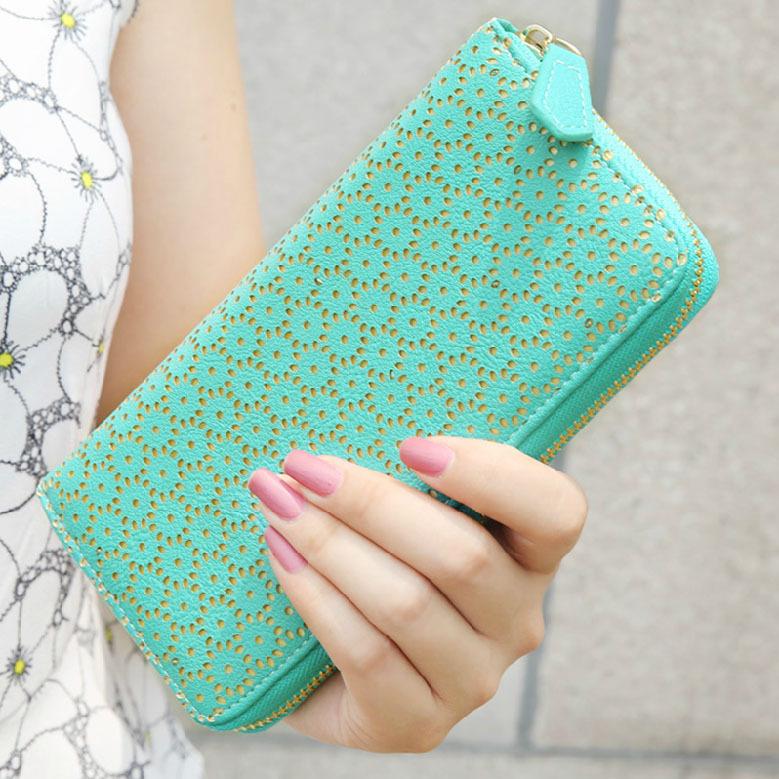 Kqueenstar 2014 marguerite découpe féminine's portefeuille. design portefeuille à long