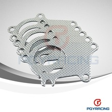 T3-T4 5-BOLT B/D SERIES TURBO MANIFOLD DOWNPIPE EXHAUST GRAPHITE ALUMINUM GASKET(China (Mainland))