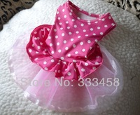 /Candy Season/Dog lovely pink hemlines wedding polk dress clothes,Puppy wear,pet apparel,XS-L,free shipping