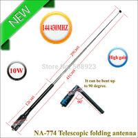 Black professional bnc folding radio antenna NA-774 for UV-5R UV-3R TK-378 TK-2307 TC-500 (Mini order 10USD)