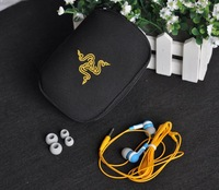 Free shipping Razer Moray Gaming earbuds with stereo game headphone black comes in bag