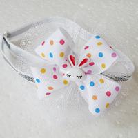 Armi store Handmade Cute Bunny Polka Dot Ribbon Dog  Collar Bow Tie 31017 Cat Grooming Equipment.