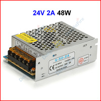 ( 10 pcs/lot ) 110/220V To 24V 2A 48W Switching Power Supply Transformer For 5050 5630 3528 LED Strip LED Display