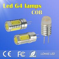 Factory Price G4 COB LED Car Lamps 12V DC 8W Corn lamp Lightning LED lighting Warm Cool White Free Shipping