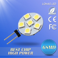 12V DC G4 Factory Price 24/12/9/6PCS 5050 SMD LED bulb 5050SMD Round LED Chip Warm/cool White LED Lamps Free Shipping