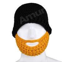 Winter Men's Knitted Hat Beard Face Mask Balaclava