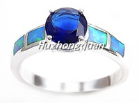 2014 New Arrival Wedding Rings For Women 925 sterling silver ring high-grade opal stone size 6 7 8 9 10free shipping