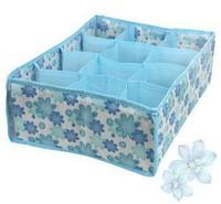 Free Shipping Hot Sale Folding 12 Grid  Storage Box For Bra Underwear Socks 31*23*11CM
