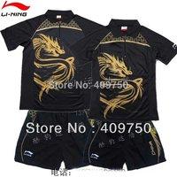 Wholesale 2011 New Li-Ning Men Table tennis Shirt & Shorts Set MEN T-SHIRT