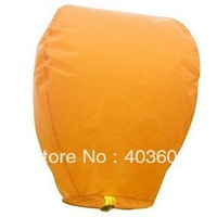 10psc Sky Lanterns Wishing Lantern - Orange Chinese Wishing Lantern Classic Toys Balloon Shape Free Shipping Wholesale