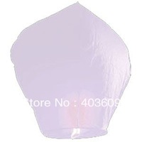 10psc Sky Lanterns Wishing Lantern - White Chinese Wishing Lantern Classic Toys Balloon Shape Free Shipping Wholesale