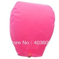 10psc Sky Lanterns Wishing Lantern - Pink Chinese Wishing Lantern Classic Toys Balloon Shape Free Shipping Wholesale
