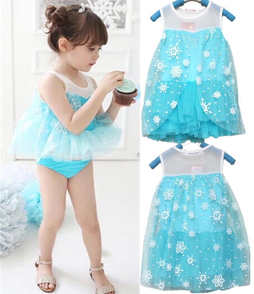 Baby Clothings summer Baby dress infant tutu girl dress Frozen Elsa Anna costume princess set girls dresses 3Pcs(China (Mainland))