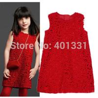 2014 new arrival american girls dress, fashion children designer dress, kids lace dress girl, european brand girls' dresses