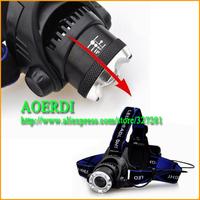 CREE XM-L T6 LED Headlamp 2000 Lumen LED Bicycle bike HeadLight Flashlight 2pcs Free shipping