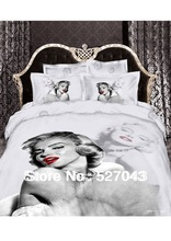 Marilyn Monroe Luxury 3D Bedding Set Bed Set Duvet or Quilt Cover Bedclothes Full/Queen/King Size ,Free Shipping(China (Mainland))