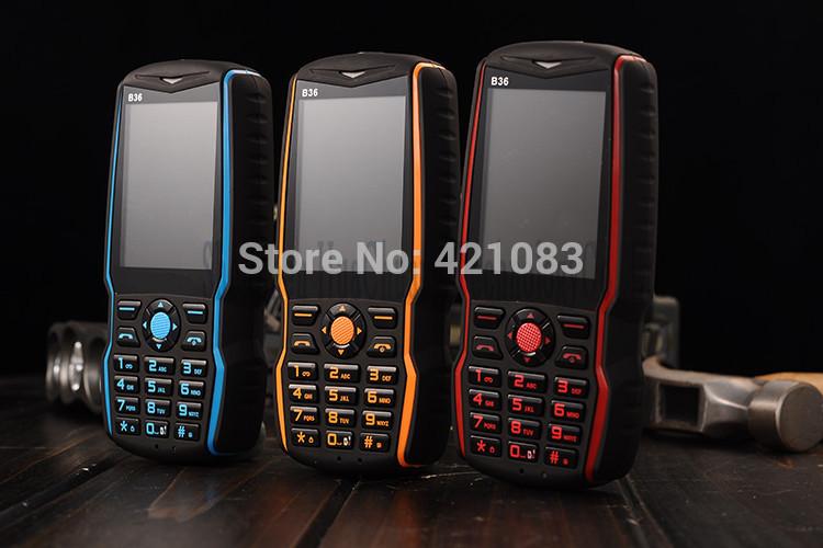 2013 Unlocked Mobile Phone B36 with 4500mAh Big Battery Camera Blutetooth Flashlight 1.77inch Power Bank Long Standby Dual Sim(China (Mainland))