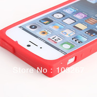 Free shipping Tapes Design Soft Back Cover Case for iPhone 5 5S (Assorted Colors)