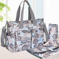 L0009 Multi Function Stroller Baby Diaper Bags Fashion Designer Brand Mama Nappy Bags 5pcs/set