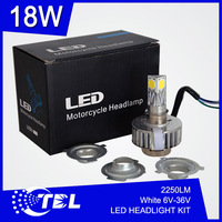 New Arrival 15W 6-36V LED Motorcycle Headlight 1650LM Fit Most Motorbike LED Hi Lo Headlight Conversion Kit with 1 Year Warranty