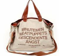 Hot sell 2013 letter Casual Canvas Bag Women's Messenger Bags Handbag Free shippment factory price