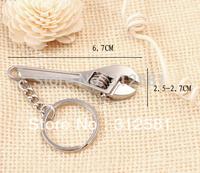Free Shipping Wrench tool key chain Metal Adjustable Creative Spanner Key Chain Keyring Mini Cute