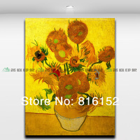 Van Gogh  Famous Paintings Golden Sunflower high quality modern abstract oil painting on canva room decoration painting picture
