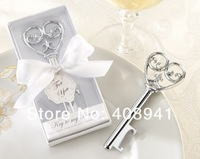 Free Shipping+Wholesale Holiday Supplies Key to my Heart Bottle Opener Wedding favors and gifts,100pcs/lot