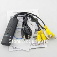 Freeshipping USB 2.0 Easycap 4 Channel DVR CCTV grabber Camera usb Video capture Adapter Recorder for win7 vista capture card
