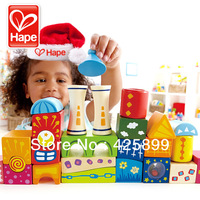 Free Shipping Fantasy Castle Wood Blocks Hape blocks wooden toy puzzle baby child gift Shape color perception