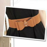 2014 NEW Fashion Bow brown leather belt ,Women Skirt belt, Shorts girdle.Free Shipping!!!