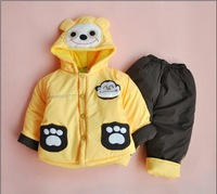 baby boys  cartoon clothing sets 2pcs kids clothes sets boys warm coat children winter outwear boys frozen clothing set
