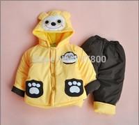 baby boys  cartoon clothing sets 2pcs kids clothes sets boys warm coat children winter outwear boys frozen clothing set