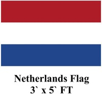 10pcs/lot Netherlands Flag 3` x 5` FT 90x150cm 100% Polyester Holland Dutch Banner bandiera National Flag Free shipping