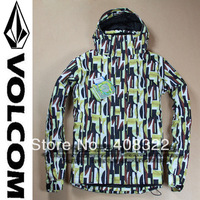 FREE SHIPPING,NEW ARRIVE VOLCM-10 Original snowboard jacket for men,skiing jackets,5000/5000,high quality and best service